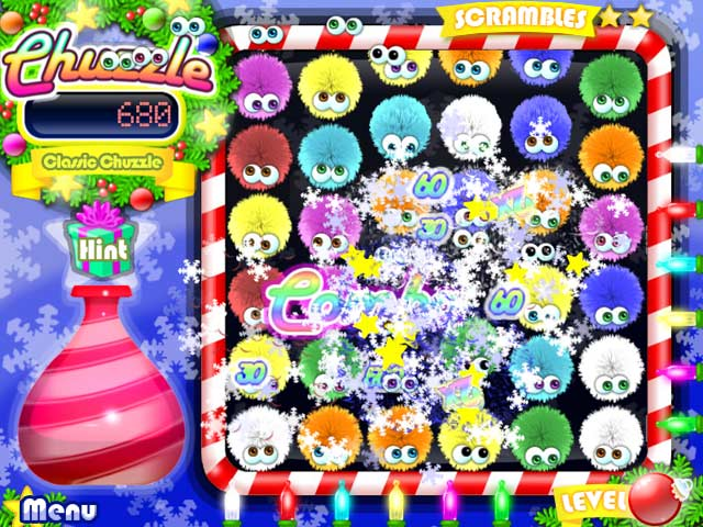 Play free chuzzle christmas edition online game 1000 games