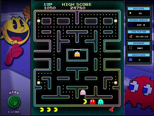 Alfa img - showing pac man course