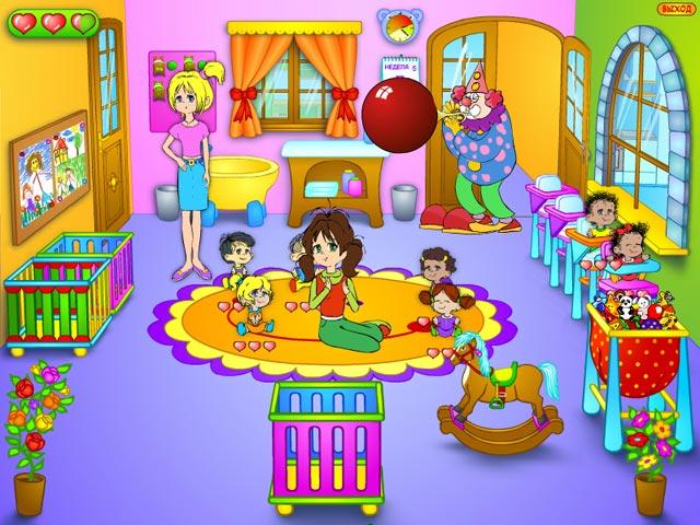 играть в игры для девочек уход за малышами в детском саду бесплатно.